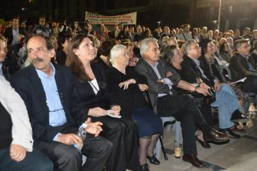 2014/05/14: Στιγμιοτυπο απο την κεντρικη συγκεντρωση του ΣΥΡΙΖΑ στην Πατρα