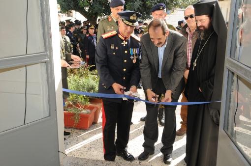 2012/11/21: Ο Β. Χατζηλαμπρου στα εγκαινια της Λεσχης Αξιωματικων Φρουρας Πατρων στο ΚΕΤχ