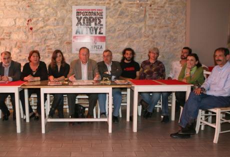 2012/04/26: Από την παρουσίαση του ψηφοδελτίου Αχαΐας του ΣΥΡΙΖΑ-ΕΚΜ.