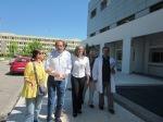 2012/06/08: Από την περιοδεία Σ. Σακοράφα, Β. Χατζηλάμπρου, Μ. Κανελλοπούλου, Τ. Γιακουμή στο νοσοκομείο «Άγιος Ανδρέας».