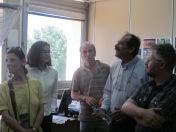 2012/06/08: Από την περιοδεία Σ. Σακοράφα, Β. Χατζηλάμπρου, Μ. Κανελλοπούλου, Τ. Γιακουμή στο νοσοκομείο «Άγιος Ανδρέας»