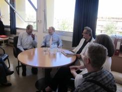 2013/06/08: Από την περιοδεία Σ. Σακοράφα, Β. Χατζηλάμπρου, Μ. Κανελλοπούλου, Τ. Γιακουμή στο νοσοκομείο «Άγιος Ανδρέας».
