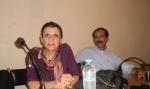 Οι βουλευτές Αχαΐας του ΣΥΡΙΖΑ-ΕΚΜ Μ. Κανελλοπούλου και Β. Χατζηλάμπρου.