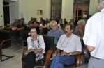 2012/08/29: Η Μ. Κανελλοπούλου και ο Β. Χατζηλάμπρου στη συνέλευση του ΣΥΡΙΖΑ-ΕΚΜ στην Κάτω Αχαγιά.