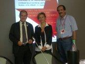 2012/10/06: Ο Β. Χατζηλάμπρου με τον Paolo Ferrero, εθνικό γραμματέα της Ριφοντατζιόνε Κομμουνίστα, και την Giovanna Marano, υποψήφια της Αριστεράς για την περιφέρεια Σικελίας.