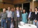2012/10/06: Αντιπρόσωποι στη Διάσκεψη – αριστερά του Β. Χατζηλάμπρου ο Rabih Deiraki, ηγετικό στέλεχος του Κ.Κ. Λιβάνου, και δεξιά του ο Fabio Amato από την ιταλική Κομμουνιστική Επανίδρυση, που φιλοξένησε τις εργασίες της Διάσκεψης