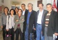 2013-03-28: Ο Β. Χατζηλαμπρου και η Θ. Φωτιου με μελη του Κομματος Τυνησιων Εργατων στη συναντηση με τον Χαμα Χαμαμι, επικεφαλης του Λαϊκου Μετωπου Τυνησιας